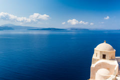 Church. Near the sea in oia, santorini Stock Images