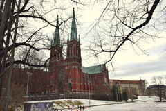 Church in neo-Gothic style. View of the Church in Helsinki royalty free stock photo