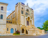The church in Neo Romanesque style Royalty Free Stock Photo