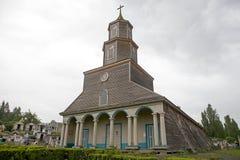 Church of Nercon, Chiloe Island, Chile Stock Image