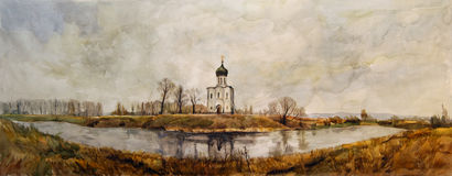 Church on the Nerl vector illustration