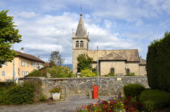Church at Nernier in France Royalty Free Stock Photos