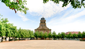 Church in Neuf-Brisach city, France Royalty Free Stock Images