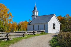 Church in New Brunswick, Canada royalty free stock photo