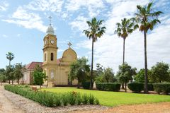 Church at New Norcia. One of the many heritage buildings at New Norcia in Western Australia. New Norcia is a town in Western Australia, 132 km north of Perth Stock Image