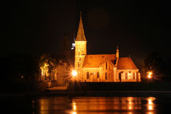 Church at night. Night scene - church at night Royalty Free Stock Photo