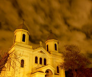 Church in night. Church in the night in center of Bucharest Stock Images