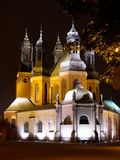 Church at night. In poznan city Stock Photo