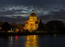 Church at Night. In December Stock Image