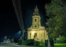 Church in the night. Lighted church in the night Royalty Free Stock Photography