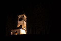 Church in the night Stock Images