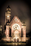 Church at night. In Malmo Sweden Royalty Free Stock Images