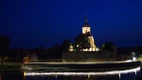 Church at Night. Church and River at Night Stock Photos