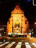 Church at night. Church at road side at night Stock Image
