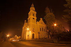 Church at night Stock Images