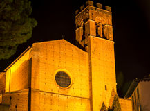 Church at night siena Royalty Free Stock Photography