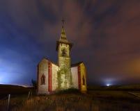Church at night. Small and curious church at night Stock Image