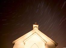 Church Night Star Trails Stock Photos