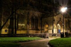Church at Night in Wigan. The view over to Wigan Parish Church at night Stock Photos