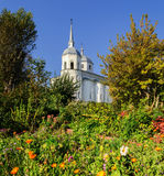 The Church of Nikita the Martyr. The Ancient  Church of Nikita the Martyr in Veliky Novgorod Stock Images