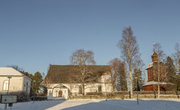 The Church in Nordmaling, Sweden royalty free stock images