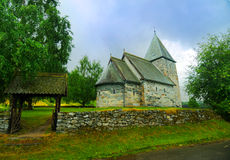 Church in Norway royalty free stock photo