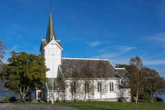 Church in Norway. A picturesque view of the Kvernes church in the mountainous regions of Norway Royalty Free Stock Photo