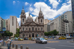 Church Nossa Senhora da Candelaria in Rio de Janeiro Stock Photo