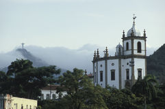 The church of Nossa Senhora da Gloria do Outeiro and the statue Royalty Free Stock Photography