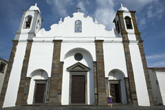 Church of Nossa Senhora de Lagoa facade Royalty Free Stock Photo