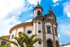 Church of Nossa Senhora do Rosario in Ouro Preto, Minas Gerais, Brazil.  Royalty Free Stock Photos
