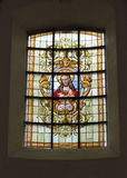 Church Notre-Dame aux Riches-Claires with image of Jesus Royalty Free Stock Photos