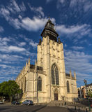 Church Notre-Dame de la Chapelle in Brussels Stock Images