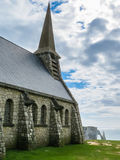 Church Notre Dame de la Garde chapel, Etretat Royalty Free Stock Image