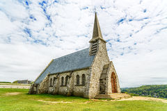 Church Notre Dame de la Garde chapel. Etretat, Normandy, France. Stock Image