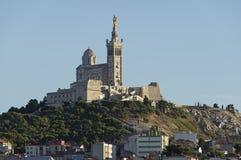 The church Notre Dame de la Garde of Marseille. In South France Stock Image