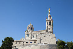 Church Notre Dame de la Garde of Marseille Stock Photography