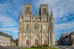 Church Notre Dame des Champsin Avranches. View at the church Notre Dame des Champs in Avranches Stock Images