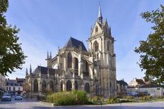 Church at La-Ferté-Bernard in France Stock Photos