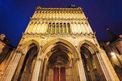 Church of Notre-Dame of Dijon stock photos