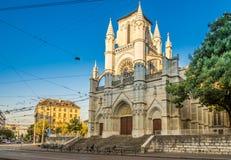 Church of Notre Dame in Genava - Switzerland. Geneva - Church of Notre Dame Royalty Free Stock Photos