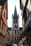 Church of Notre-Dame from Rue de la Chouette, Dijon, France Royalty Free Stock Photography