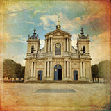Church of Notre-Dame in Versailles in vintage style, Paris, Fran Stock Photo