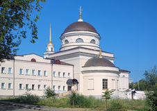 Church in Novo-Tikhvin monastery of Yekaterinburg Royalty Free Stock Photography