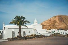 Church of  Nuestra Senora de los Volcanes in Mancha Blanca Stock Images