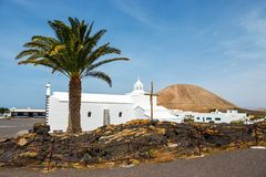 Church of  Nuestra Senora de los Volcanes in Mancha Blanca Stock Photos