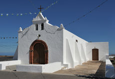 Church of Nuestra Senora del Socorro, Tiagua, Lanzarote Island, Royalty Free Stock Image