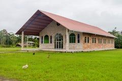 Church in Nuevo Rocafuerte. Village, Ecuador royalty free stock photos