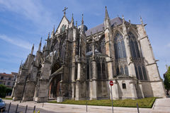 Church with a number of turrets. French church with a number of turrets Royalty Free Stock Photography
