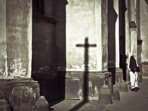 Church and nun Stock Images